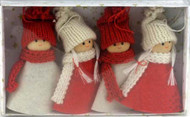 Tomte w/Knit Red and White Clothes Ornaments (H1-1225)