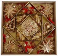 Straw Ornaments - Boxed Assortment (48) (H1-1289)