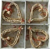 Straw Heart Ornaments (H1-1297)
