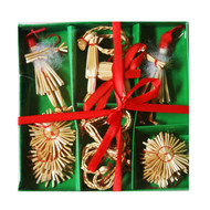 Straw Ornament Boxed Assortment (H1-561)