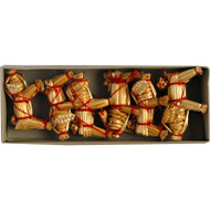 Straw Pig Ornaments 6-pack (H1-584)