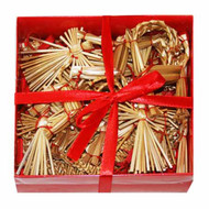 Straw Ornaments in Gift Box - 42 Assorted (H1-59)