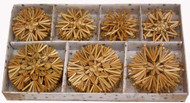 Straw Stars and Snowflakes Ornament Set (H1-63)