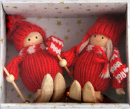 Tomte-Santas Skier Ornaments (H1-816)