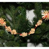 Straw Christmas Tree Garland - Snowflakes (H1-901-9)