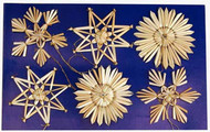 Straw Ornaments - 6 per Card (H1-94)