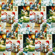 Wrapping Paper - God Jul Santas Scenes (4360)