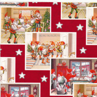 "Wrapping Paper - Santa-Tomtes - 23"" x 72"" (4411)"