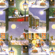 "Christmas Wrapping Paper - Winter Night - 23"" x 72"" (16601)"