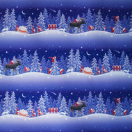 "Christmas Wrapping Paper - Nordic Night - 23"" x 72"" (16711)"