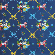 "Wrapping Paper - Dala Horse and Dancers - 23"" x 72"" (95050)"