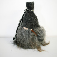 "Tomte w/Gray Wool Hat & Walking Stick - 8 1/2"" (7007G)"