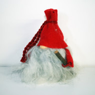 "Tomte w/WRed Wool Hat & Walking Stick - 8 1/2"" (7007R)"