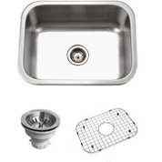 Houzer BSS-2309 Houzer Belleo Series Topmount Single Bowl Kitchen Sink Stainless Steel BSS-2309
