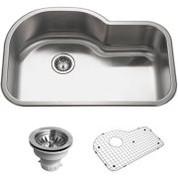 Houzer BSH-3200 Houzer Belleo Series Topmount Offset Single Bowl Kitchen Sink Stainless Steel BSH-3200