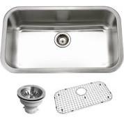 Houzer BSG-3018 Houzer Belleo Series Topmount Large Single Bowl Kitchen Sink Stainless Steel BSG-3018