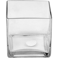 Viz Floral  6x6x6 floral glass cube