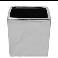 Viz Floral Silver Ceramic Cubes 5x5x5