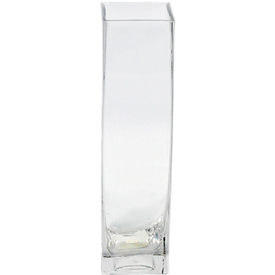 Glass Rectangle Vase 2x2x12 24 Per Case All Floral Supplies