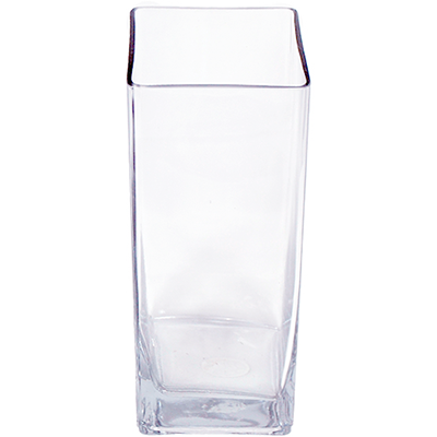 Glass Rectangle Vase 4x4x12 12 Per Case All Floral Supplies