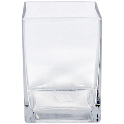 Glass Rectangle Vase 5x5x6 12 Per Case All Floral Supplies