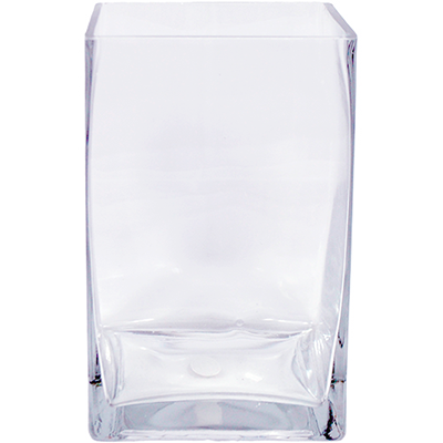 Glass Rectangle Vase 5x5x8 8 Per Case All Floral Supplies