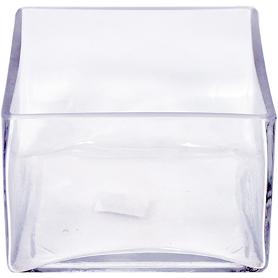 Glass Rectangle Vase 6x6x4 12 Per Case All Floral Supplies