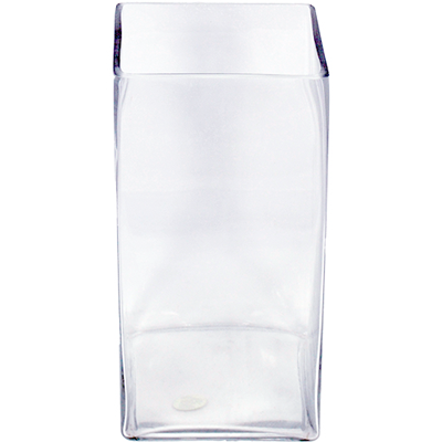 Glass Rectangle Vase 6x6x12 6 Per Case All Floral Supplies