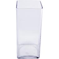 Viz Floral 6x6x14 rectangular glass vase