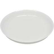 "Viz Floral Low Pie Dish 11"" White"