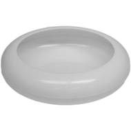 "Viz Floral 7 1/2"" Frisbee dish white"