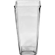 "Viz Floral Glass Vase 4.375"" x 4.375"" x 9"" Clear"
