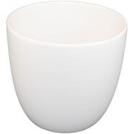 "Viz Floral Ceramic Cylinder Vase 7"" x 5"" x 7"" White"