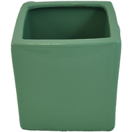 "Ceramic Cube Vase 6"" x 6"" x 6"" Sage Green"