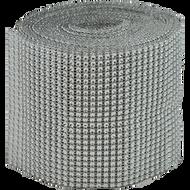 """Diamond Ribbon 4.5"""" x 16"""" Silver"""