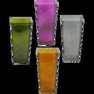 """Viz Floral Glass Vase 4.375"""" x 4.375"""" x 9"""" Assorted Colors"""