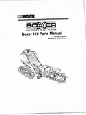 Boxer 118 Trencher Parts Manual