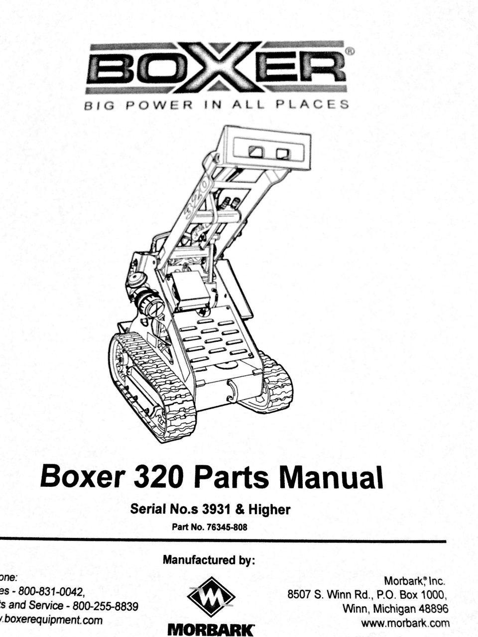 Boxer 320 Parts Manual Enviro Chipper Ind Inc Skateboard Diagram Image 1