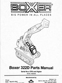 Boxer 322D Part Manual