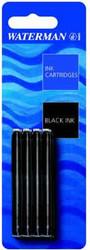 Waterman Blue-Black Fountain Pen Cartridges (Pkt of 8)