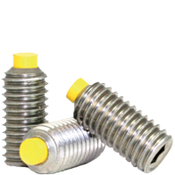 "#10-24x1/2"" Socket Set Screws Cup Point Coarse 18-8 Stainless w/ Nylon-Tip (1,000/Bulk Pkg.)"