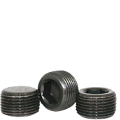 """Image of 1/8""""-27 Pipe Plugs Alloy Dry-Seal 3/4"""" Taper Black Oxide (USA) (100/Pkg.)"""