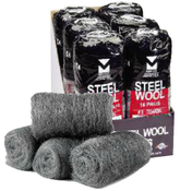 Steel Wool Hand Pads - Medium Coarse - Mercer Abrasives 283MEDCRS (Qty. 96)