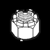 """1""""-14 Castle Nut, Plain, Slotted (125/Bulk Pkg.)"""