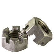 "1""-8 Slotted Finished Hex Nuts Plain (10/Pkg.)"