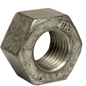 "1 1/4""-7 Heavy Hex Nut, A194/SA194 2H, Hot Dip Galvanized/Wax/Blue Dye (50/Bulk Pkg.)"