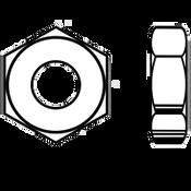 "1 1/8""-7 Heavy Hex Jam (Thin) Nut A563 Grade A Zinc (190/Bulk Pkg.)"
