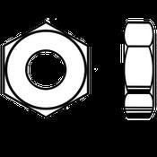 "1 1/4""-7 Heavy Hex Jam (Thin) Nut A563 Grade A Zinc (120/Bulk Pkg.)"