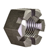 "1/2""-13 Slotted Heavy Hex Nuts Coarse Plain (500/Bulk Pkg.)"