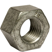 "1 1/4""-7 Heavy Hex Nut, A194/SA194 2H, Hot Dip Galvanized/Wax (USA) (270/Bulk Pkg.)"